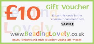 V-1-10 - Beading Lovely Gift Voucher £10