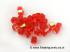 B-Sab-06 - Fire Red AB Half Coat Glass Cube Beads 4mm