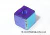 B-Sab-09 - Blue AB Half Coat Glass Cube Beads 4mm